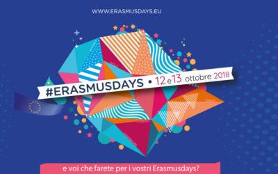 #Erasmusdays2018. Le Giornate Erasmus in arrivo il 12 e 13 Ottobre in 20 diversi Paesi