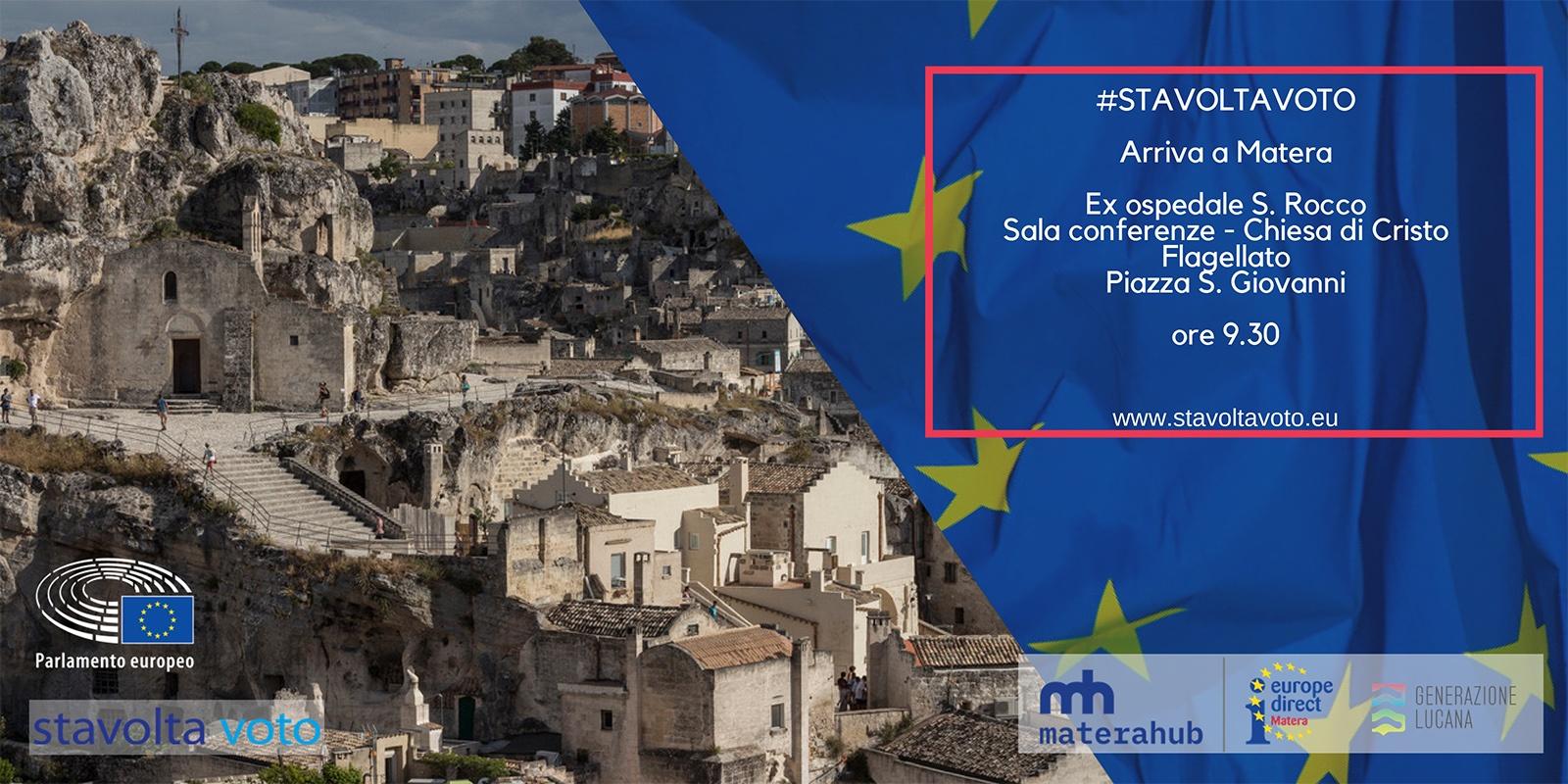 """COMUNICATO STAMPA. La campagna informativa """"Stavolta voto"""" fa tappa nella Capitale Europea della Cultura 2019"""